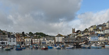 The Town And Harbor At Low Tid...