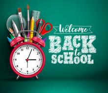 Back To School Vector Banner W...
