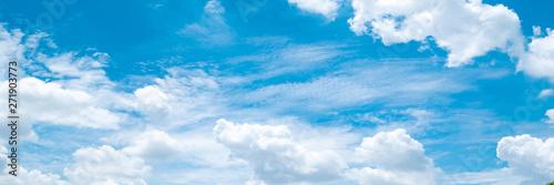 Beautiful blue sky cloudsfor background. Panorama of sky. Canvas-taulu