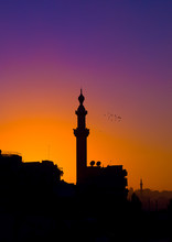 Minaret In The Sunset, Aleppo, Syria