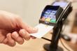 Leinwandbild Motiv Contactless Payment with NFC credit card