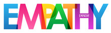 EMPATHY Rainbow Vector Typography Concept Banner