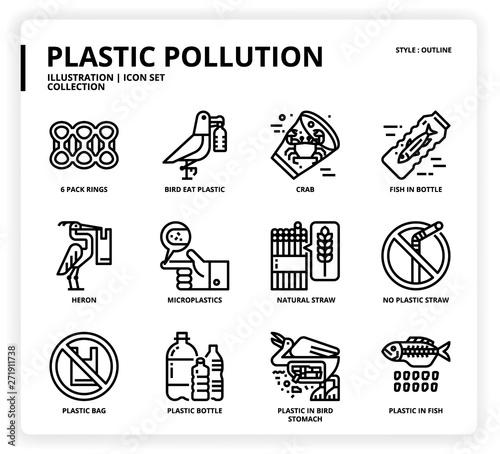 Obraz na plátně  Plastic Pollution