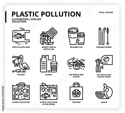 Fotografie, Obraz  Plastic Pollution