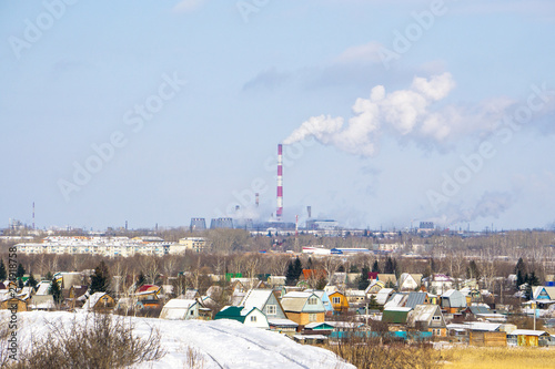 Foto op Plexiglas industrial plant in the city