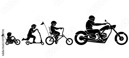 Fotografija Chopper Rider Evolution Silhouette