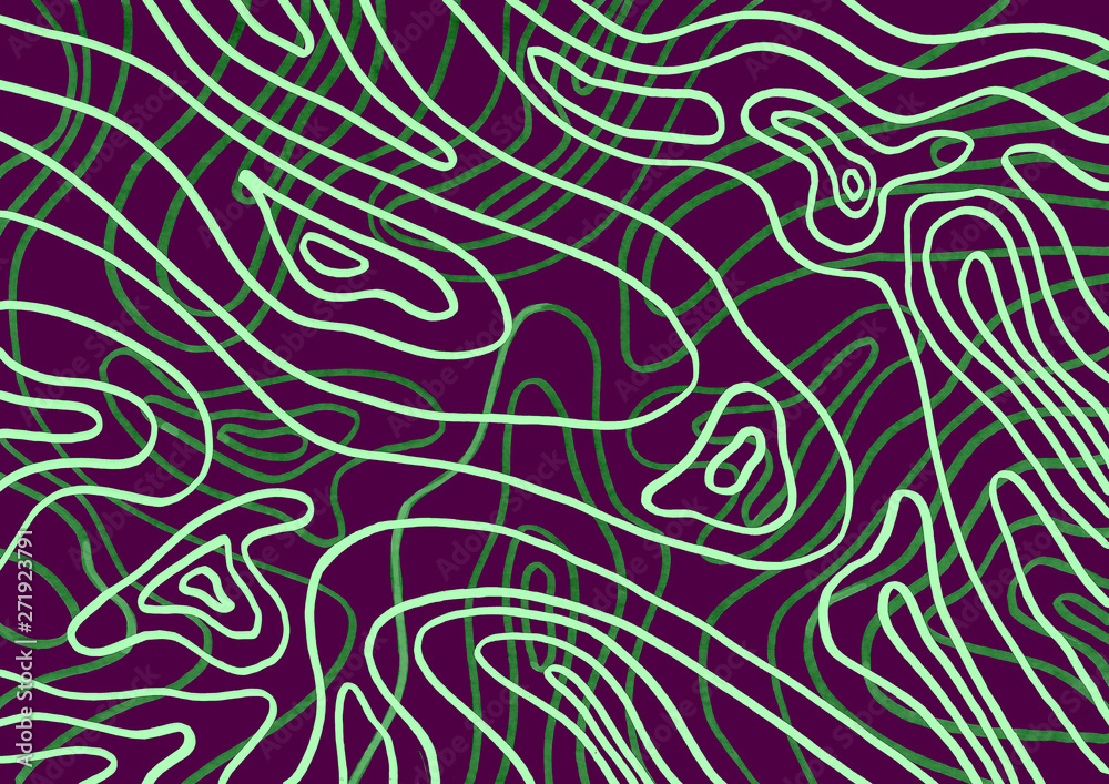 Abstract background with lines and curves
