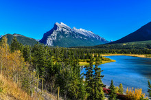 Vermillion Lake Located In Banff National Park, Canada.