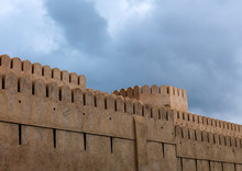 Wall Of Nizwa Castle, Oman