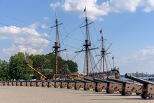Admiralteyskaya Square On The Embankment In The City Of Voronezh, Russia