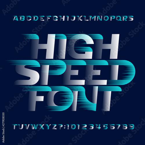 Fotomural High Speed alphabet font