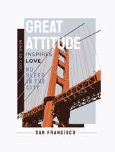 Typography Slogan With Bridge ...