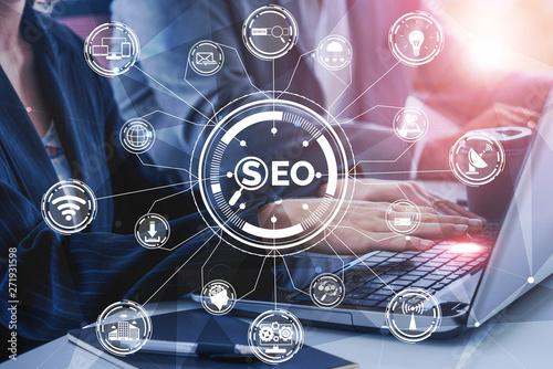Fotografie, Obraz  SEO - Search Engine Optimization for Online Marketing Concept