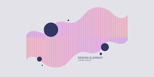 Abstract Element With Dynamic Linear Waves. Vector Illustration