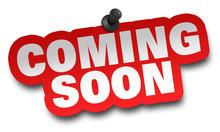 Coming Soon Concept 3d Illustr...