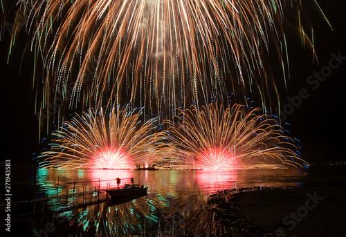 【長野県諏訪市】諏訪湖の花火大会 〜Kiss of Fire〜 水上スターマイン