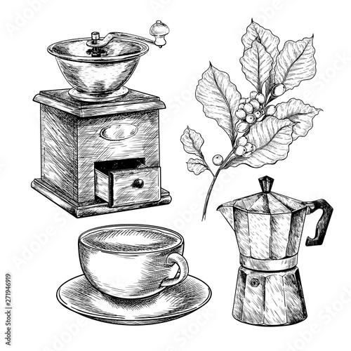 Fotografie, Obraz  Coffee set