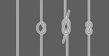 Rope Knots Borders Line Set De...