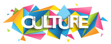 CULTURE Typography Banner On C...