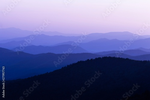 Printed kitchen splashbacks Purple Sunset in the Great Smoky Mountain National Park