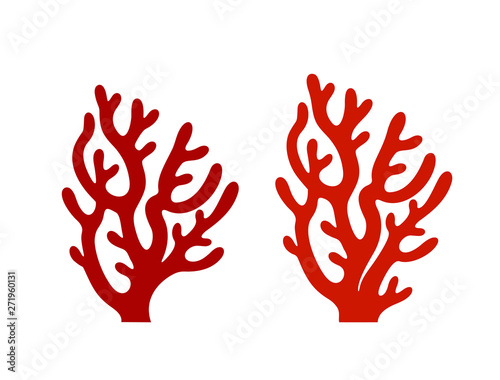 Coral logo. Isolated coral on white background Fototapete