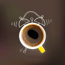 Creative Idea Layout Coffe Cup Alarm Clock