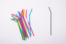 Plastic Straws And Metal Straw