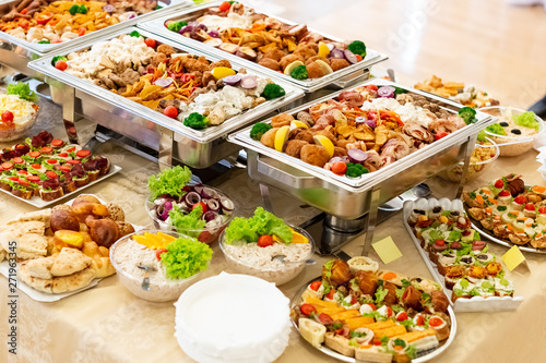 Fotografie, Tablou Catering wedding buffet for events