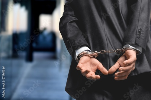 Photo Arrest bound bracelet bribe bribery business businessman