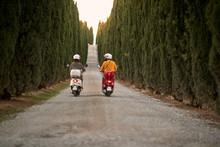 Romantic Man And Woman Riding ...