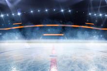 Hockey Ice Rink Sport Arena Empty Field