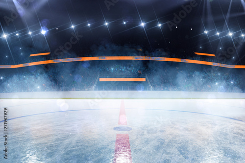Hockey ice rink sport arena empty field Wallpaper Mural