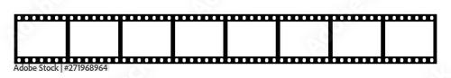 Fotografie, Tablou Eight empty frames of 35 mm film strip
