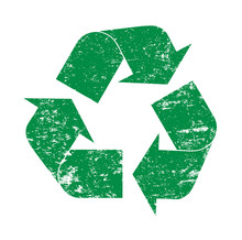 Green Grunge Recycling Logo Ic...