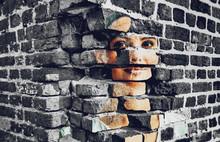 Face, Portrait, Mural, Face, P...