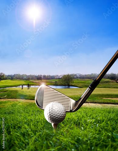 Golf ball on the Tee Canvas Print