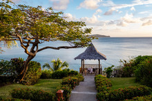 Saint Lucia Tropical Beach, St Lucia Caribbean Huge Pitons And Jungle