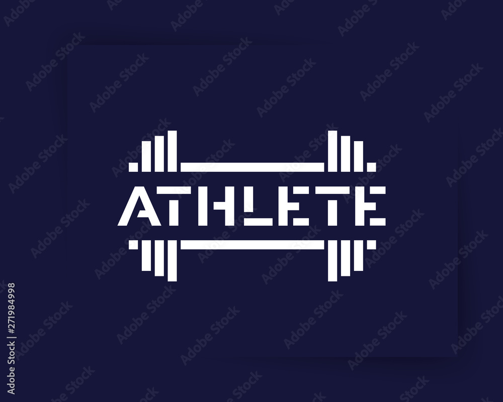 Athlete, vector logo design