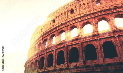 Fotografie, Obraz  Roman Colosseum during sunset