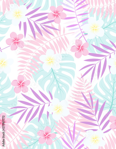 exotic vector floral tropical pattern - 271987772