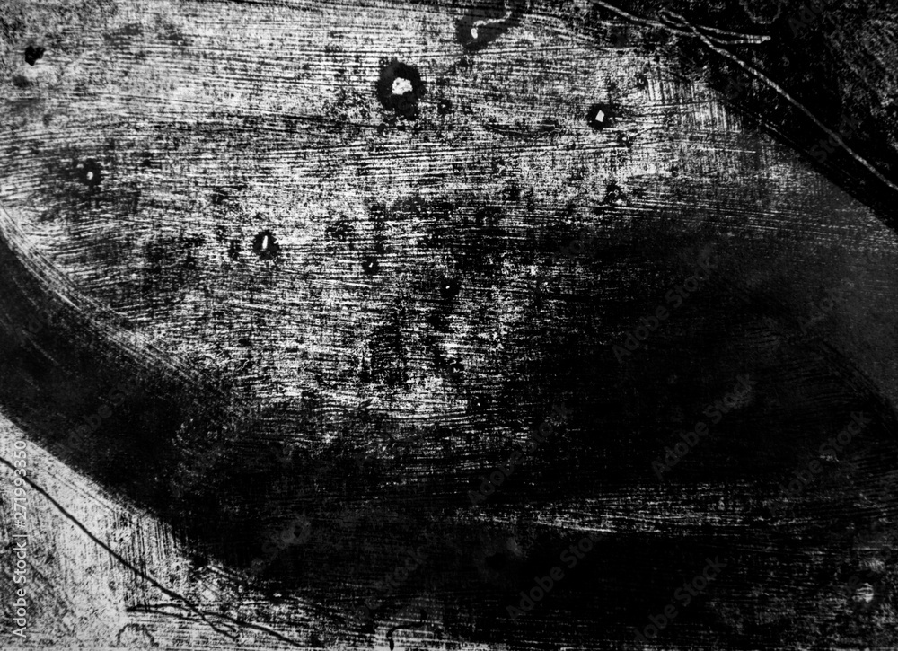 Fototapety, obrazy: black white paint background texture with grunge brush strokes