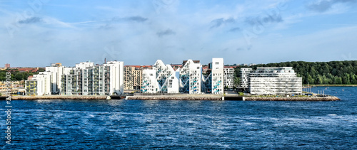 Modern residential buildings at the port of Aarhus in Denmark