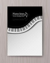 Top View Waved Piano Keys