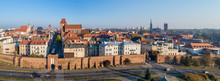 Wide Aerial Panorama Of Torun ...