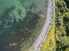 Aerial View Of  A Rocky Beach In Galway Bay