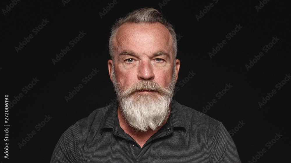 Fototapeta Senior man with a beard
