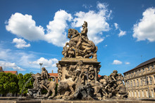 The Margrave Fountain Located On Residenzplatz Of Bayreuth