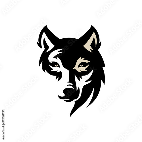 Photo Wolf Vintage Logo Stock Vector