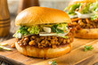 canvas print picture - Homemade Healthy Vegan Lentil Barbecue Sandwich