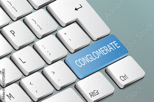 conglomerate written on the keyboard button Wallpaper Mural